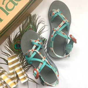 SOLD *Chacos - Beautiful Aqua Aztec Sandals*